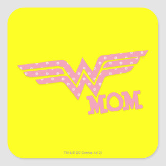Wonder Mom Pink Square Sticker