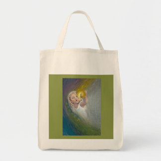 Wonder -Painting of a Child Canvas Bags