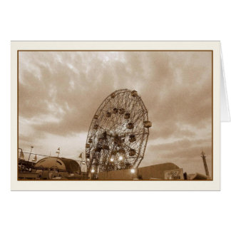 Wonder Wheel at Twilight Blank Note Card