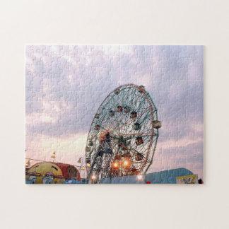 'Wonder Wheel at Twilight' Jigsaw Puzzle