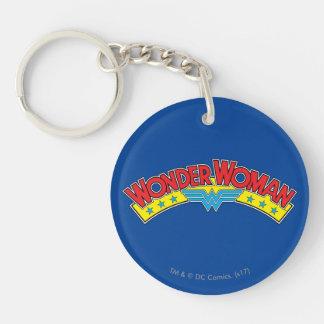 Wonder Woman 1987 Comic Book Logo Key Ring