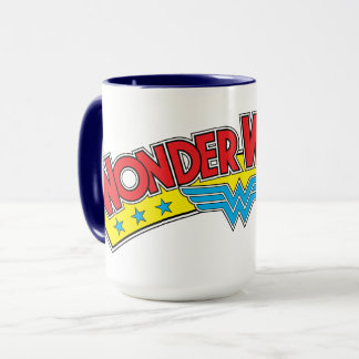 Wonder Woman 1987 Comic Book Logo Mug
