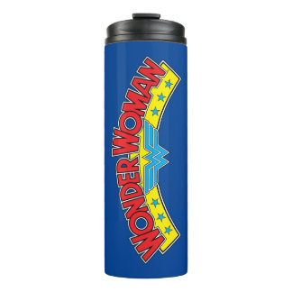 Wonder Woman 1987 Comic Book Logo Thermal Tumbler