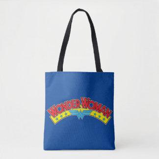 Wonder Woman 1987 Comic Book Logo Tote Bag