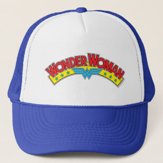 Wonder Woman 1987 Comic Book Logo Trucker Hat