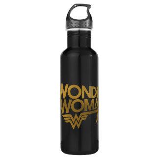 Wonder Woman 75th Anniversary Gold Logo 710 Ml Water Bottle