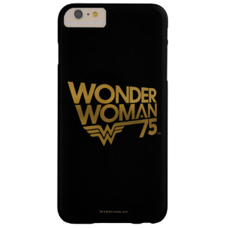 Wonder Woman 75th Anniversary Gold Logo Barely There iPhone 6 Plus Case