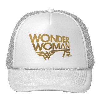 Wonder Woman 75th Anniversary Gold Logo Cap