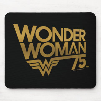 Wonder Woman 75th Anniversary Gold Logo Mouse Pad
