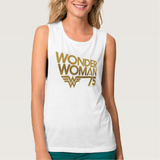 Wonder Woman 75th Anniversary Gold Logo Singlet