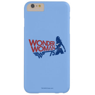 Wonder Woman 75th Anniversary Red & Blue Logo Barely There iPhone 6 Plus Case