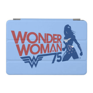 Wonder Woman 75th Anniversary Red & Blue Logo iPad Mini Cover