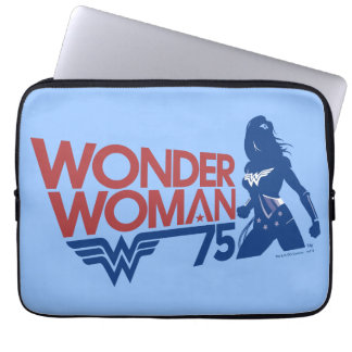 Wonder Woman 75th Anniversary Red & Blue Logo Laptop Sleeve