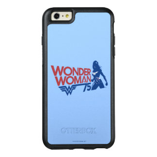 Wonder Woman 75th Anniversary Red & Blue Logo OtterBox iPhone 6/6s Plus Case