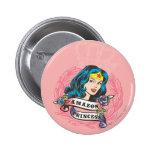 Wonder Woman Amazon Princess Pinback Button
