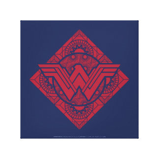 Wonder Woman Amazonian Symbol Canvas Print