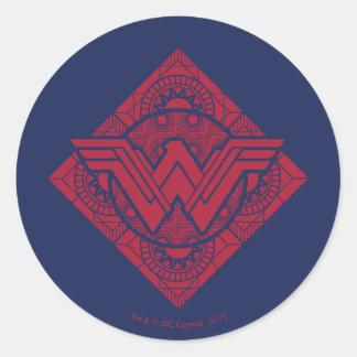 Wonder Woman Amazonian Symbol Classic Round Sticker