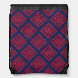 Wonder Woman Amazonian Symbol Drawstring Bag