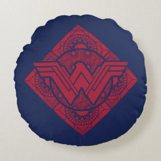 Wonder Woman Amazonian Symbol Round Cushion