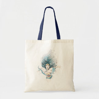 Wonder Woman and Flowers Budget Tote Bag