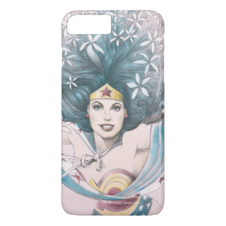 Wonder Woman and Flowers iPhone 8 Plus/7 Plus Case