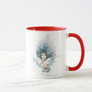 Wonder Woman and Flowers Mug