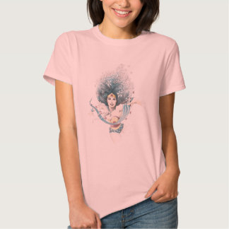 Wonder Woman and Flowers T-shirts
