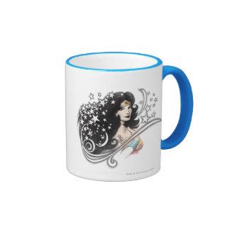 Wonder Woman and Stars Coffee Mug