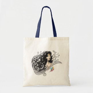 Wonder Woman and Stars Tote Bag