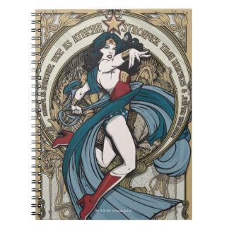 Wonder Woman Art Nouveau Panel Notebook