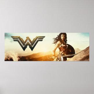 Wonder Woman At Sunset Poster
