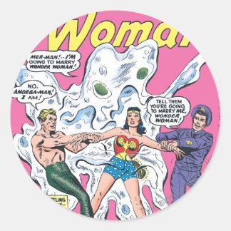 Wonder Woman Battle Prize Round Sticker