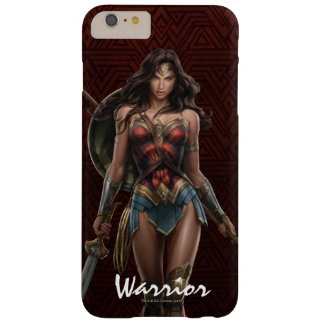 Wonder Woman Battle-Ready Comic Art Barely There iPhone 6 Plus Case