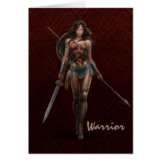 Wonder Woman Battle-Ready Comic Art Card