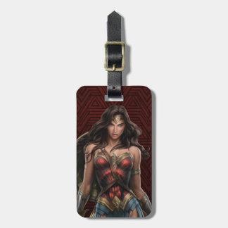 Wonder Woman Battle-Ready Comic Art Luggage Tag