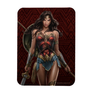 Wonder Woman Battle-Ready Comic Art Magnet
