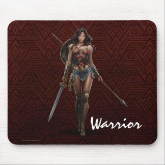 Wonder Woman Battle-Ready Comic Art Mouse Pad