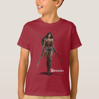 Wonder Woman Battle-Ready Comic Art T-Shirt