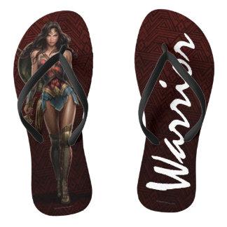 Wonder Woman Battle-Ready Comic Art Thongs