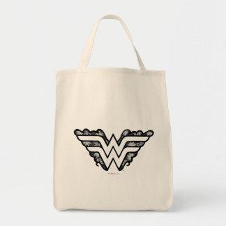 Wonder Woman Black Lace Logo