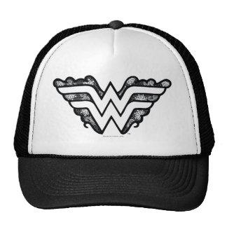 Wonder Woman Black Lace Logo Cap