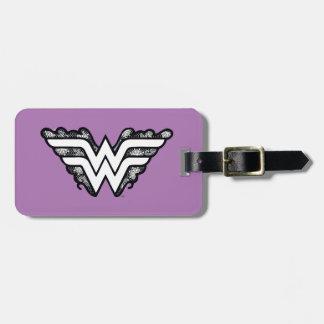 Wonder Woman Black Lace Logo Luggage Tag