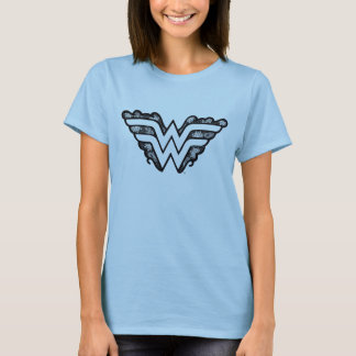 Wonder Woman Black Lace Logo T-Shirt