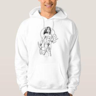 Wonder Woman Black & White Fighter Hoodie