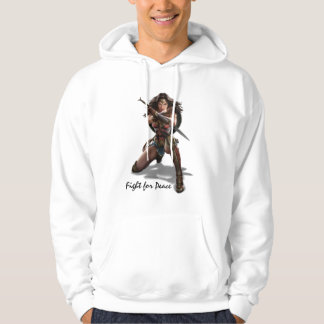 Wonder Woman Blocking With Bracelets Hoodie