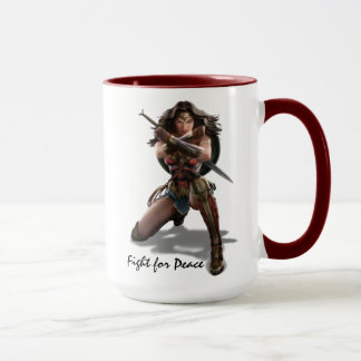 Wonder Woman Blocking With Bracelets Mug