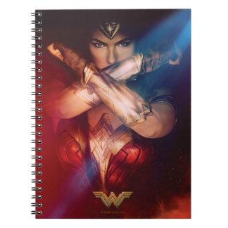 Wonder Woman Blocking With Bracelets Notebook