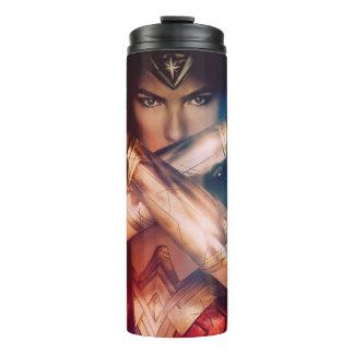 Wonder Woman Blocking With Bracelets Thermal Tumbler