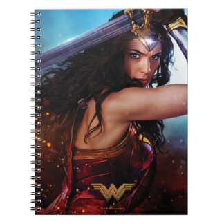 Wonder Woman Blocking With Sword Notebook