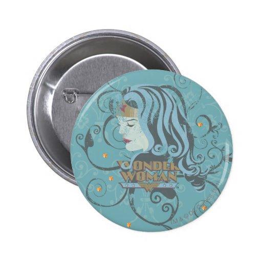 Wonder Woman Blue Background Pins